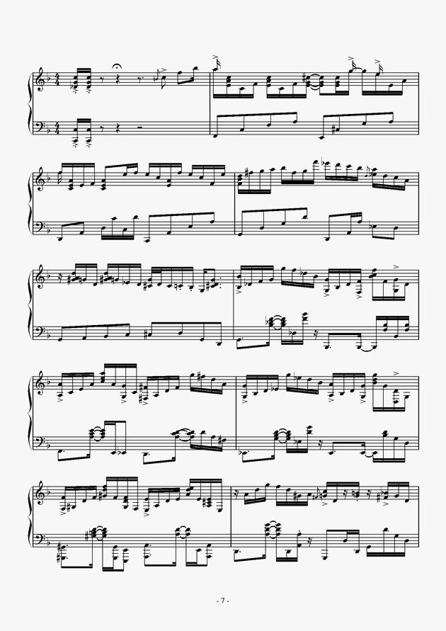 Capriccio For jubeat钢琴谱 第7页