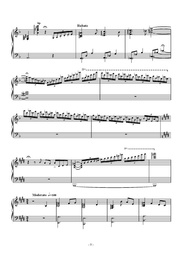 Capriccio For jubeat钢琴谱 第9页