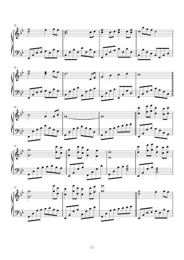 宁月钢琴谱 第2页