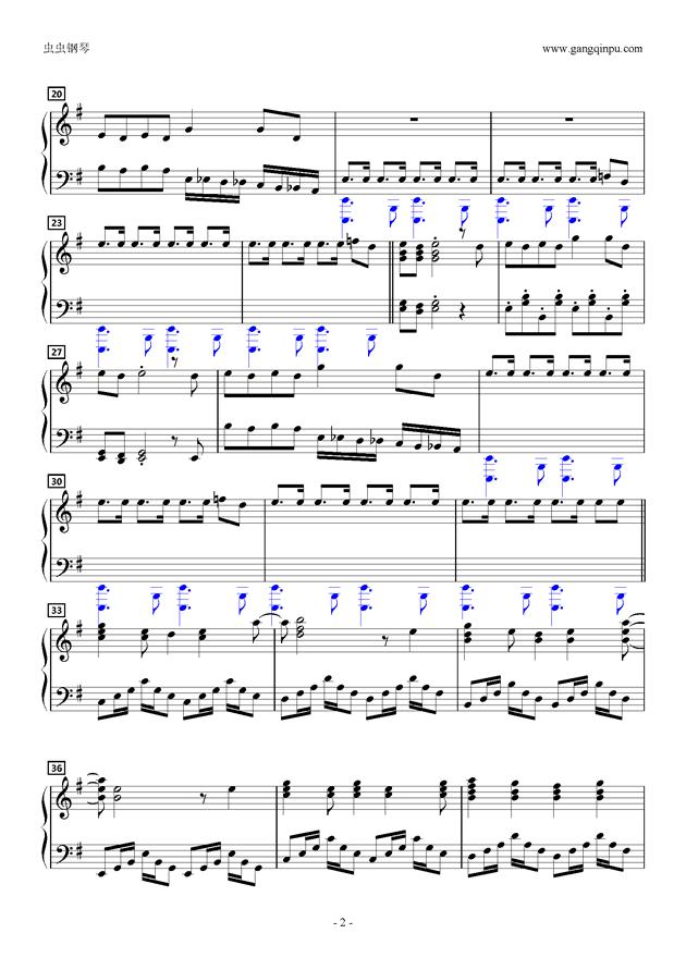 Dont'say lazyピアノソロ钢琴谱 第2页