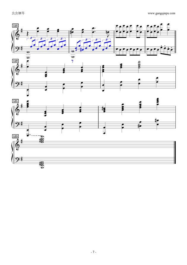 Dont'say lazyピアノソロ钢琴谱 第7页