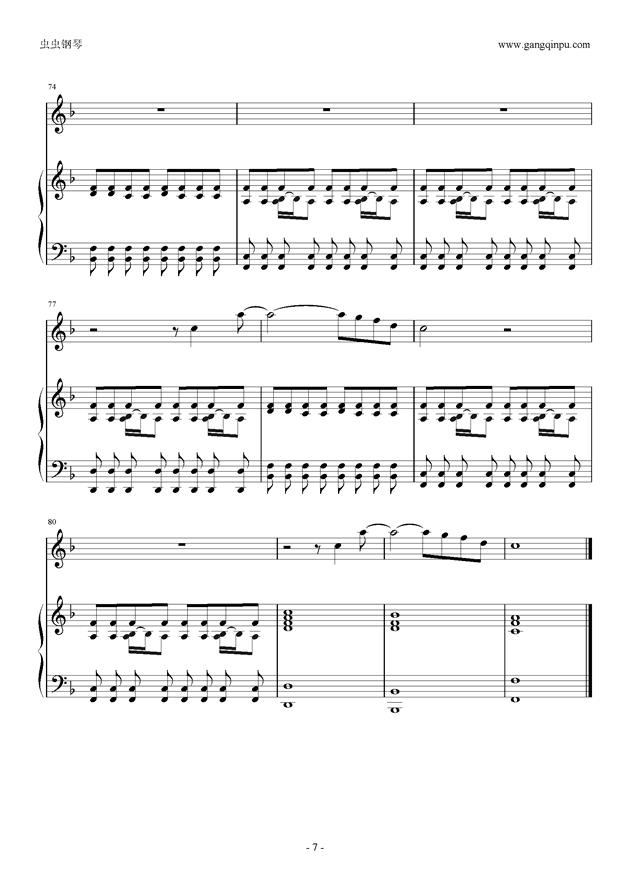 the scientist钢琴谱 第7页