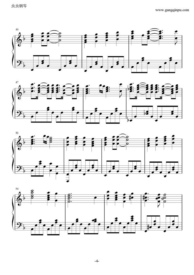 七色シンフォニ�`钢琴谱 第4页