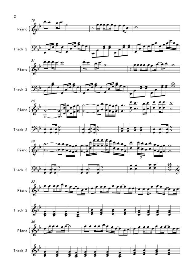 没有情人的情人节钢琴谱 第2页
