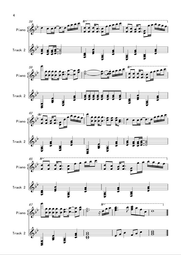 没有情人的情人节钢琴谱 第4页