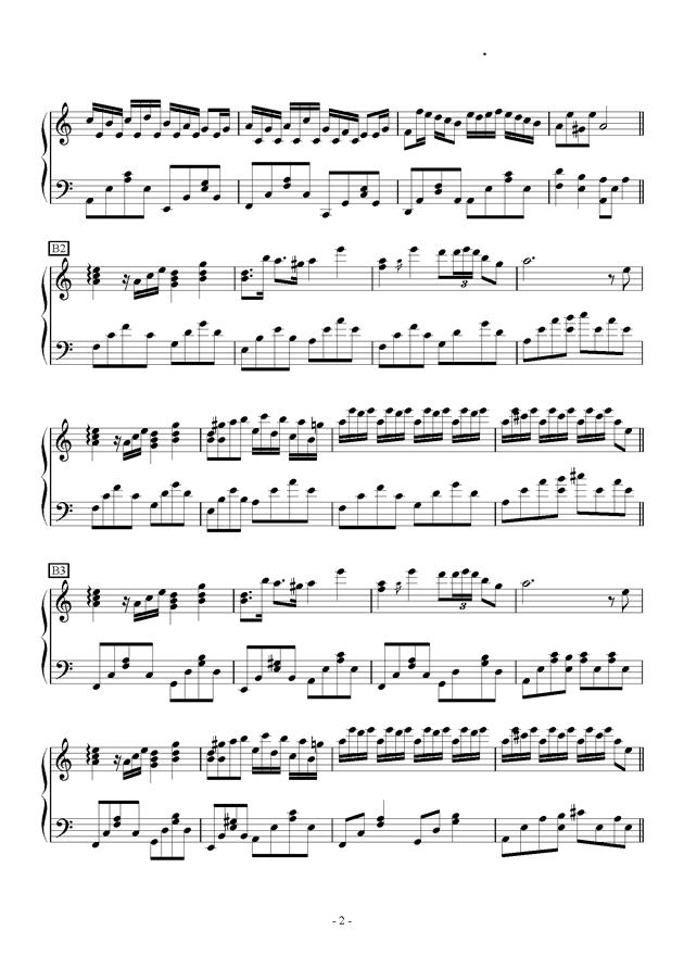 Flower Dance in C Major钢琴谱 第2页