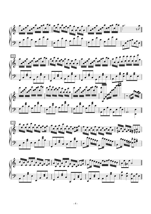 Flower Dance in C Major钢琴谱 第4页