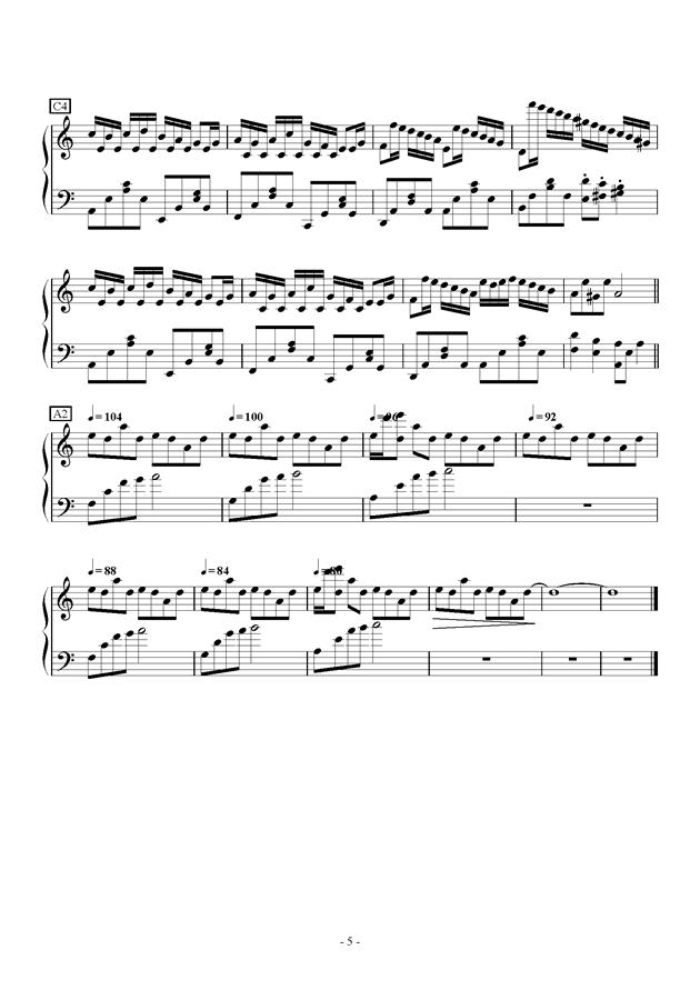 Flower Dance in C Major钢琴谱 第5页