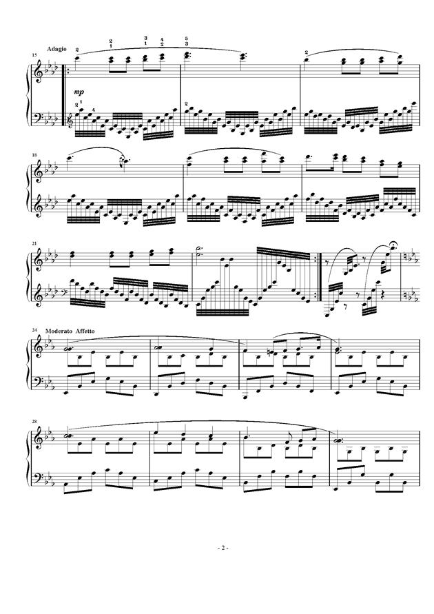 Etude Op.24 No.2钢琴谱 第2页