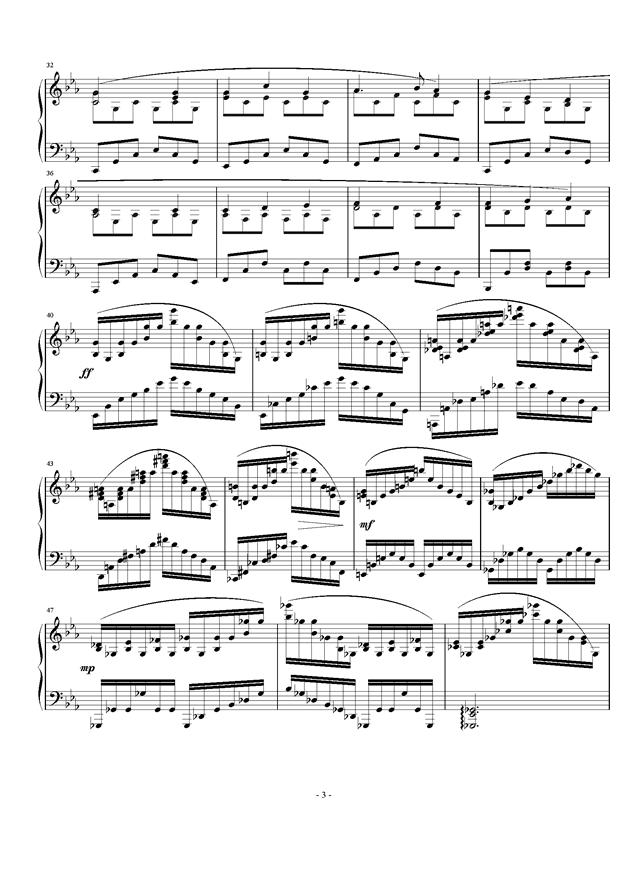 Etude Op.24 No.2钢琴谱 第3页
