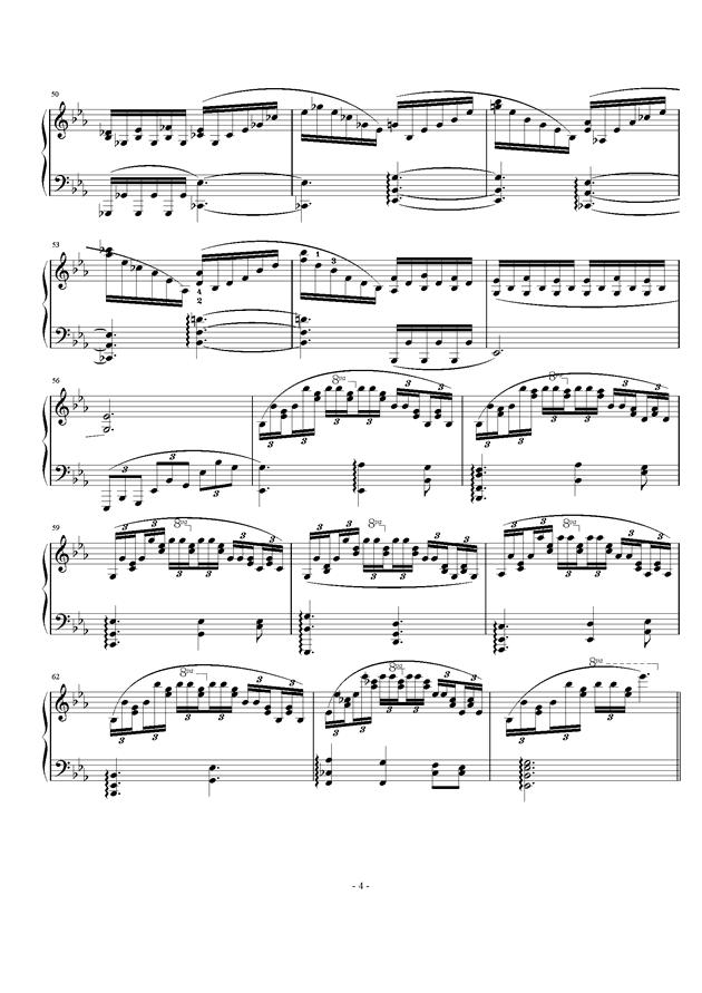 Etude Op.24 No.2钢琴谱 第4页