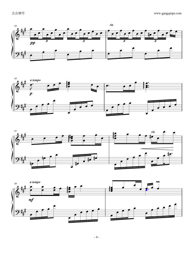 deemo钢琴乐谱正规