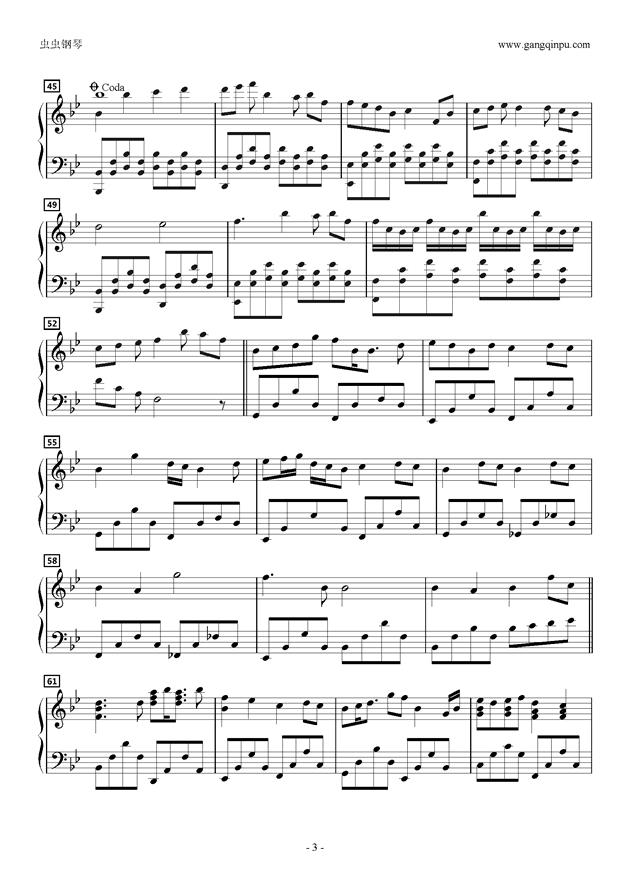 ありふれた未来へ钢琴谱 第3页