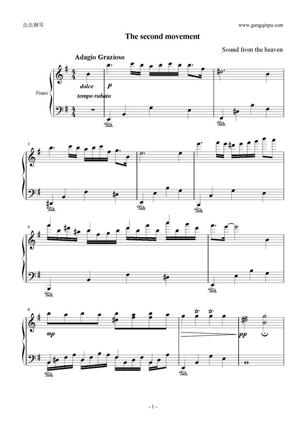 g小调小奏鸣曲钢琴谱 第1页