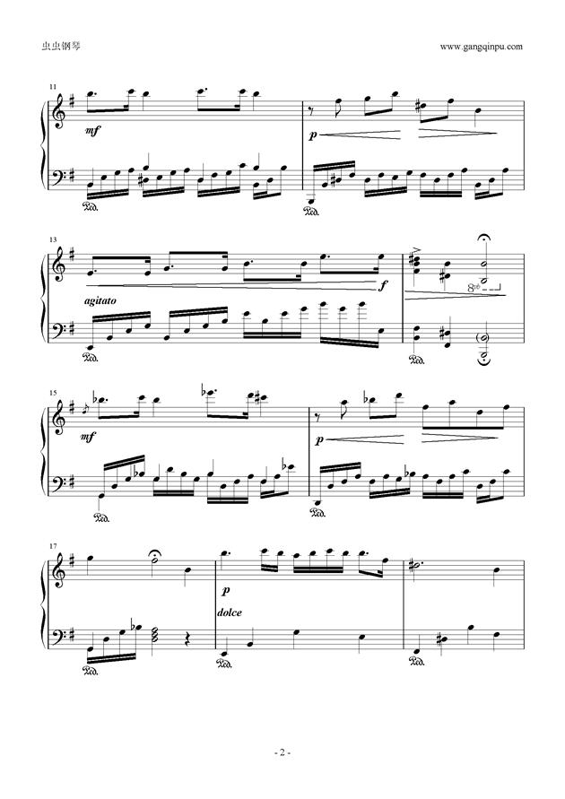 g小调小奏鸣曲钢琴谱 第2页