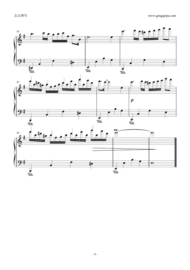 g小调小奏鸣曲钢琴谱 第3页