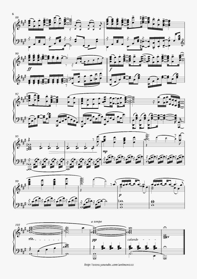 光るなら钢琴谱 第6页