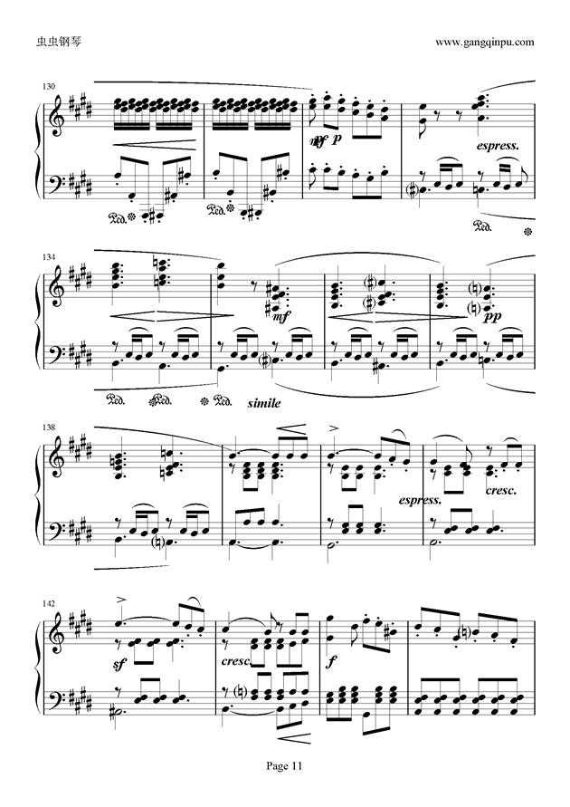 e小调随想回旋曲钢琴谱 第11页