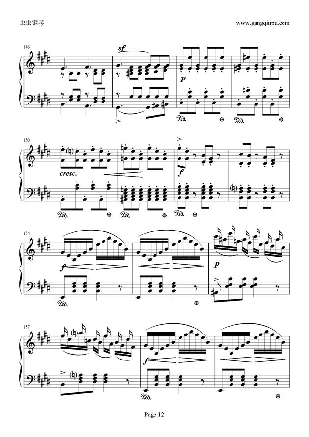 e小调随想回旋曲钢琴谱 第12页