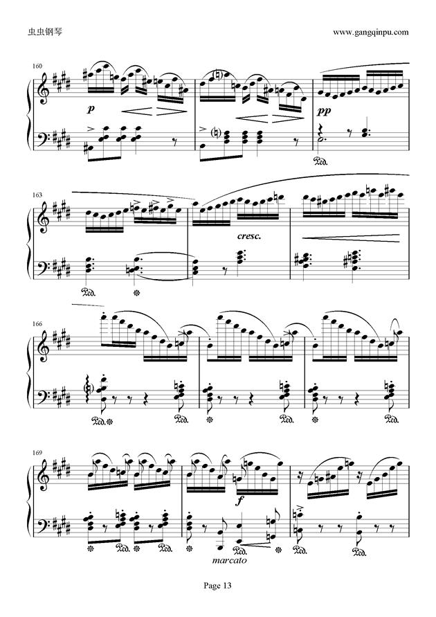 e小调随想回旋曲钢琴谱 第13页