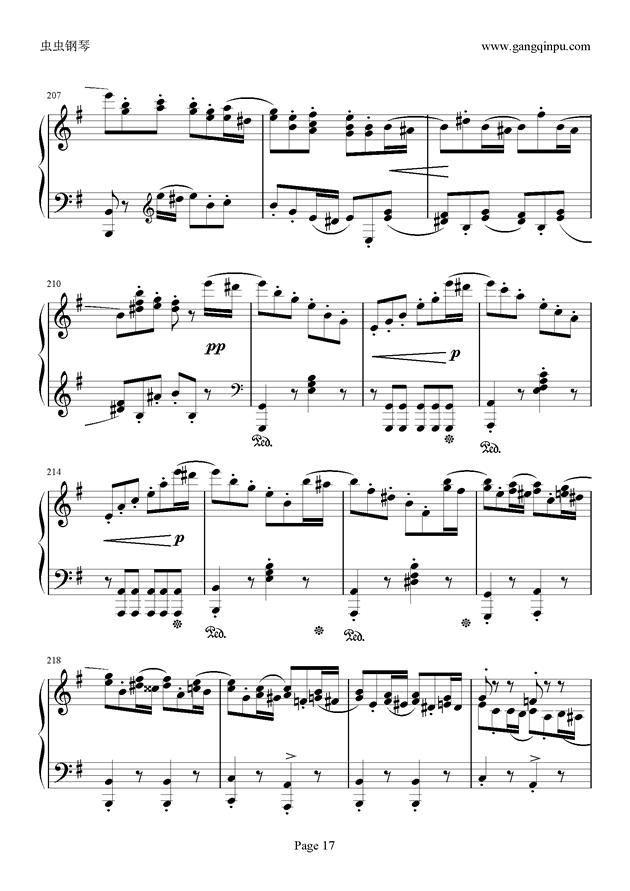 e小调随想回旋曲钢琴谱 第17页