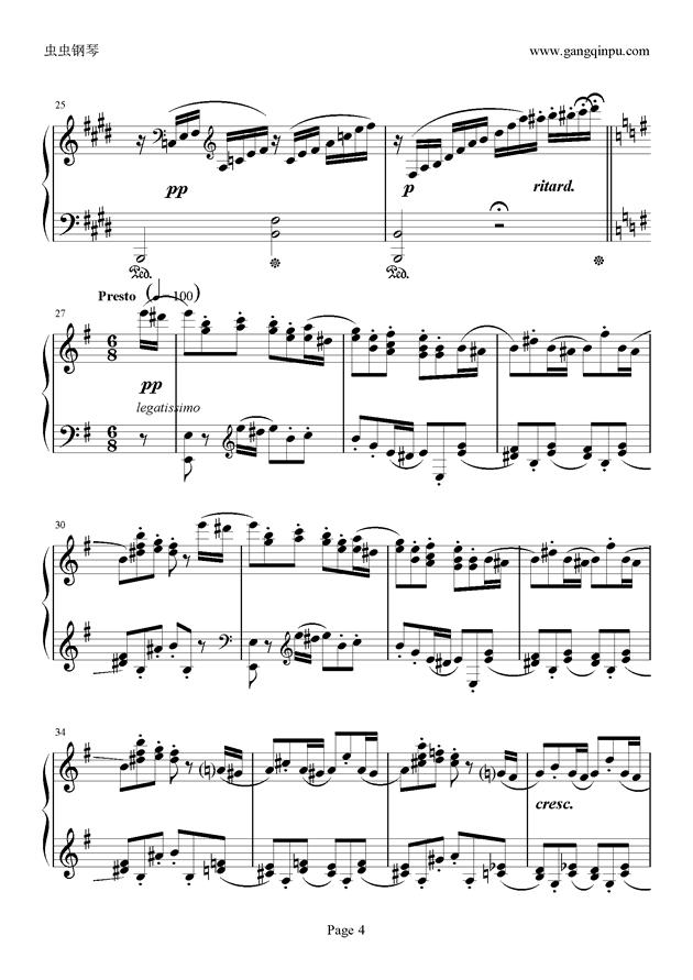 e小调随想回旋曲钢琴谱 第4页