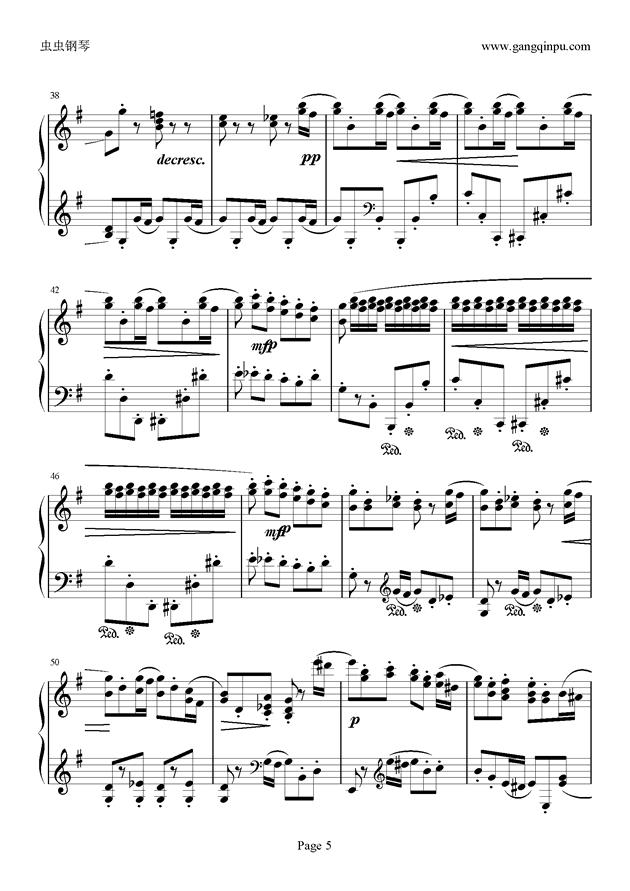e小调随想回旋曲钢琴谱 第5页