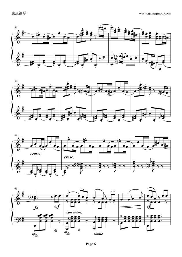 e小调随想回旋曲钢琴谱 第6页