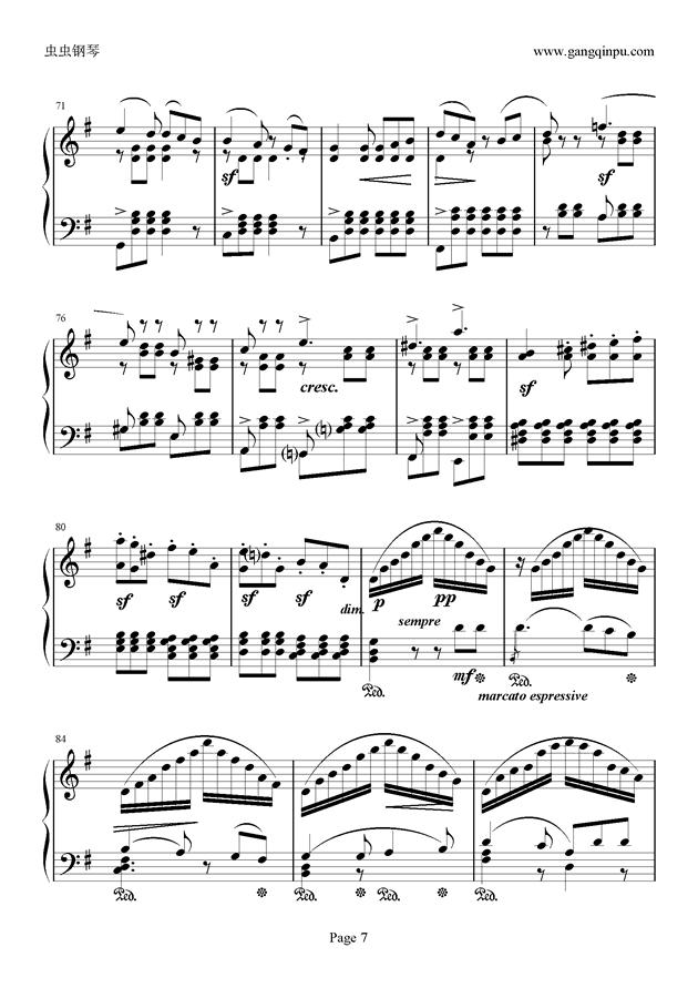 e小调随想回旋曲钢琴谱 第7页