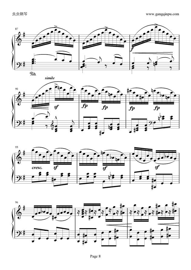 e小调随想回旋曲钢琴谱 第8页