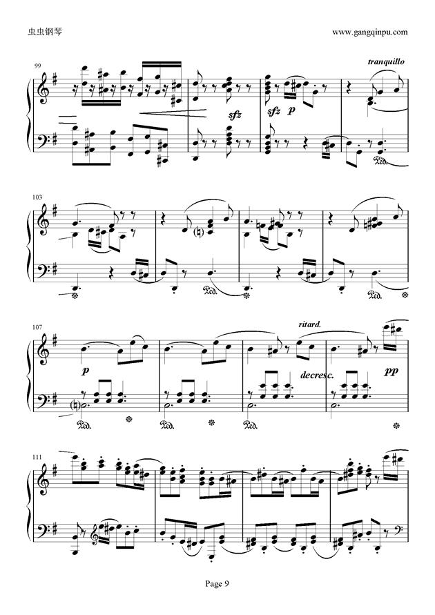 e小调随想回旋曲钢琴谱 第9页