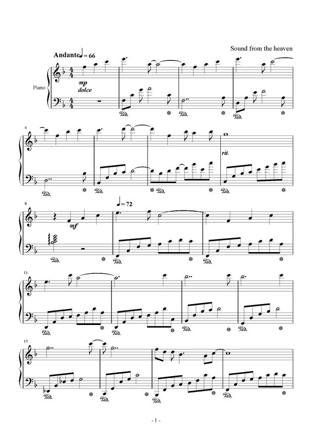 春暖花开钢琴谱 第1页