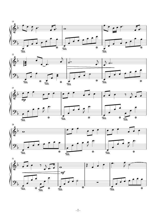 春暖花开钢琴谱 第2页