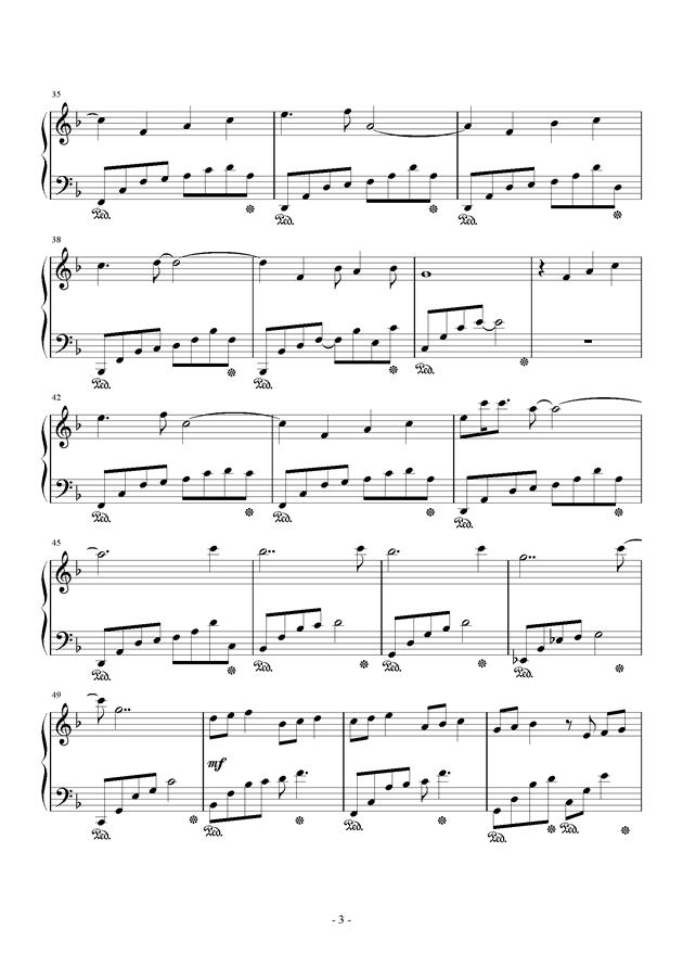 春暖花开钢琴谱 第3页