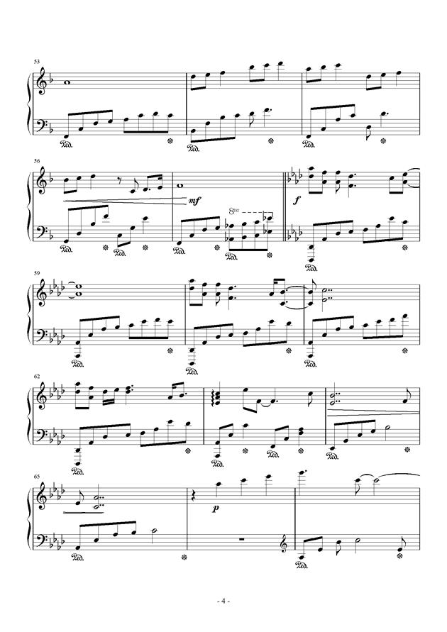 春暖花开钢琴谱 第4页