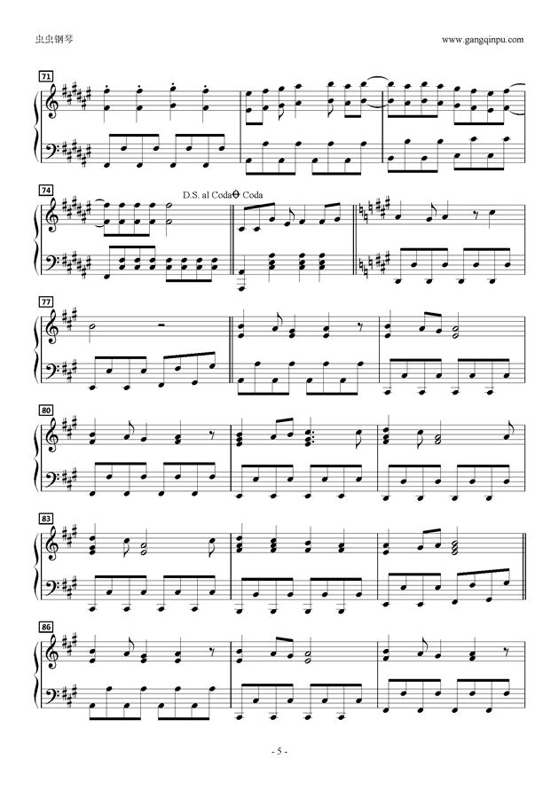 星くずこすぷれ☆ういっち!です?おめが钢琴谱 第5页