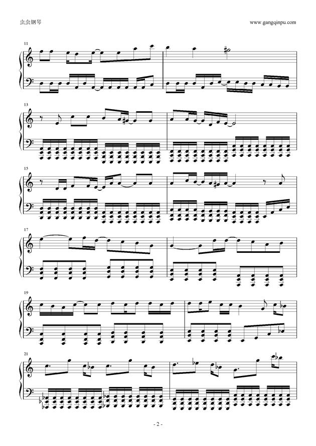 东京泰迪熊钢琴谱 第2页