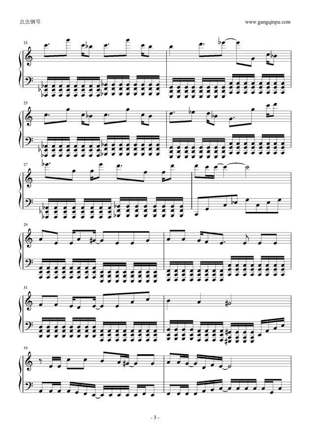 东京泰迪熊钢琴谱 第3页