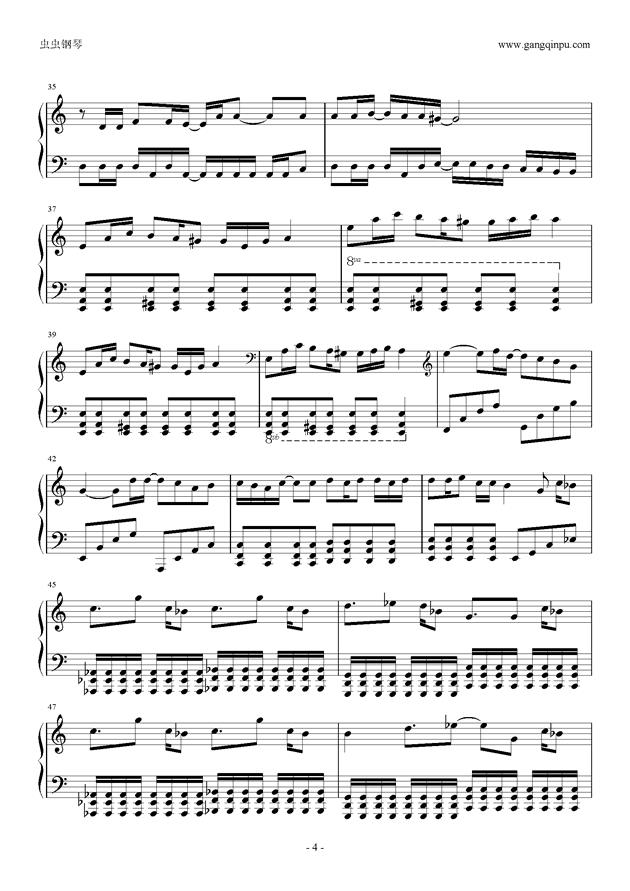 东京泰迪熊钢琴谱 第4页