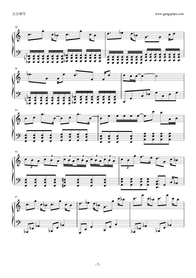 东京泰迪熊钢琴谱 第5页