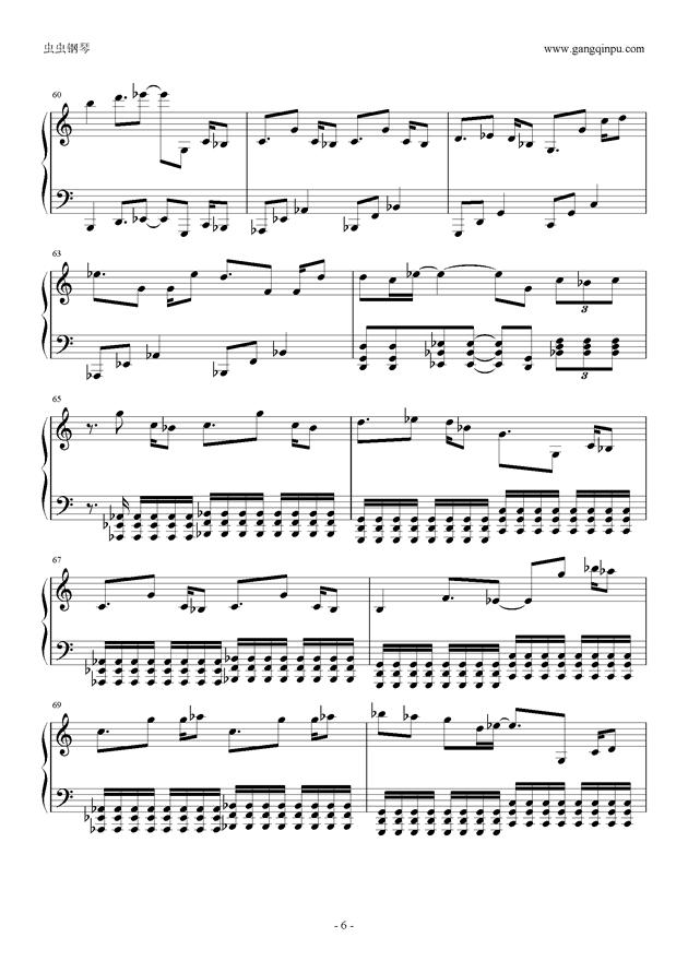 东京泰迪熊钢琴谱 第6页