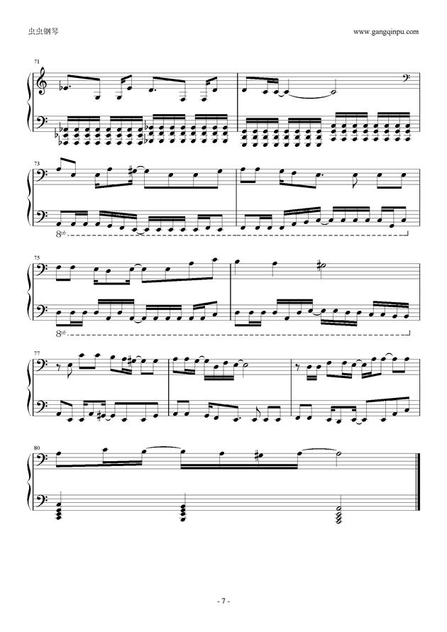 东京泰迪熊钢琴谱 第7页