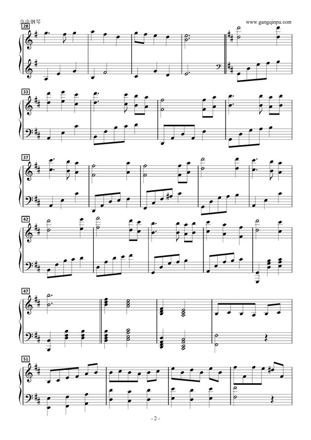 物�Zの始まり钢琴谱 第2页