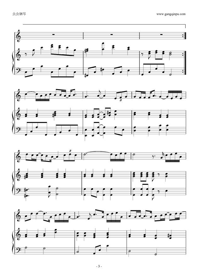 PS我爱你钢琴谱 第3页