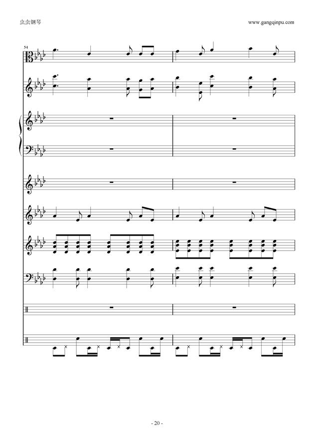 刀剑神域钢琴谱 第20页