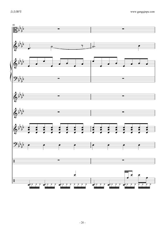 刀剑神域钢琴谱 第26页