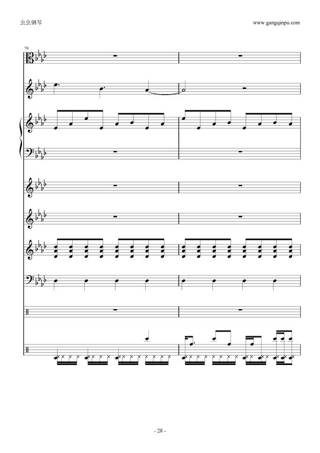刀剑神域钢琴谱 第28页