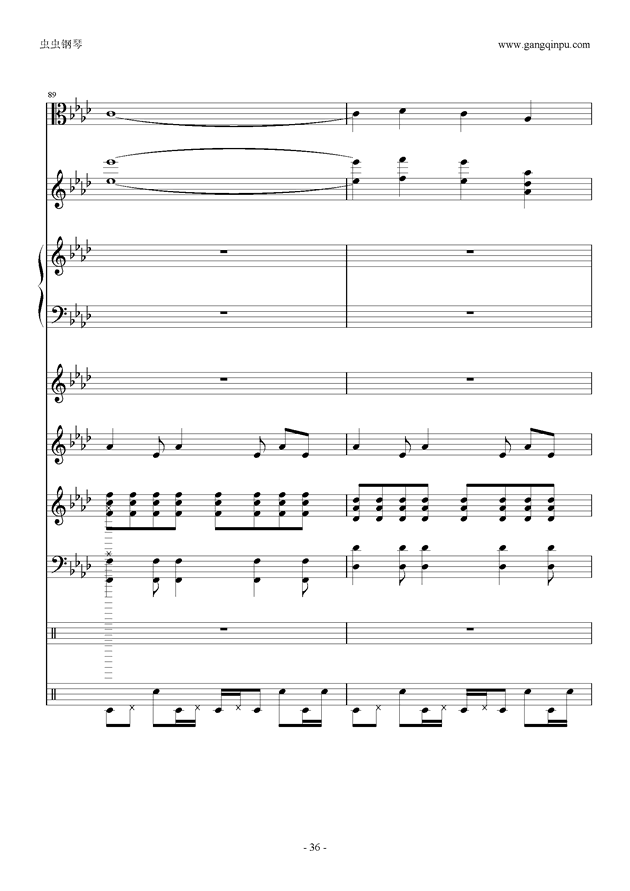 刀剑神域钢琴谱 第36页