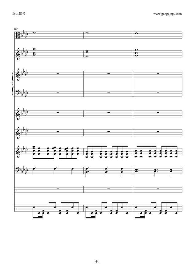 刀剑神域钢琴谱 第44页