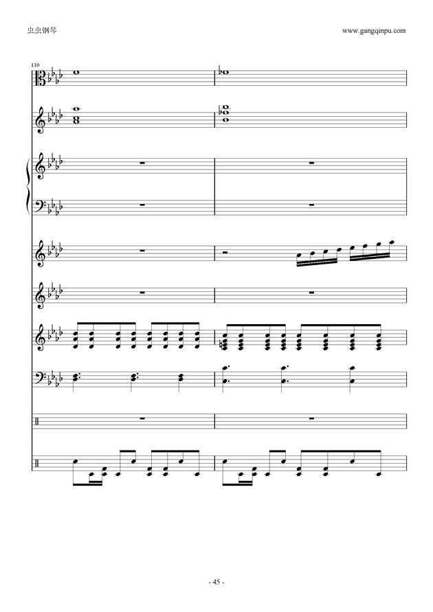 刀剑神域钢琴谱 第45页